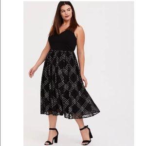 Torrid Sparkly Plaid Midi Dress - Size 20 & 22
